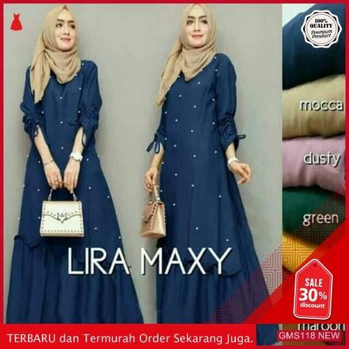 GMS118 RFXN118D57 Dress Muslim Wanita Lira Maxy Dropship SK0757322848