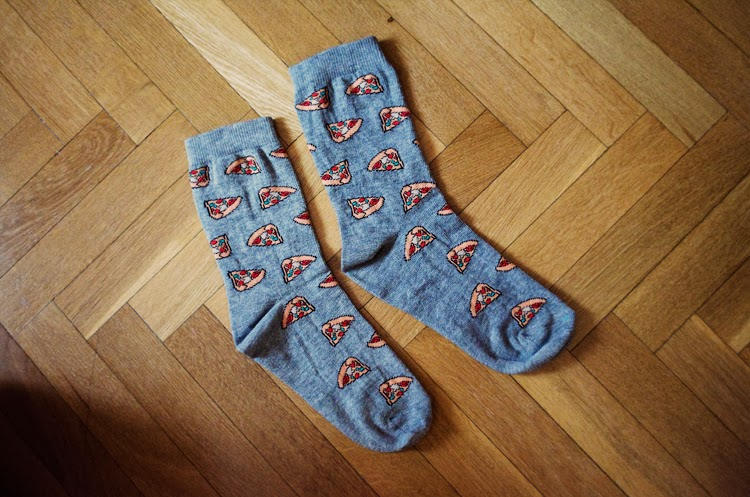 When pizza meets socks