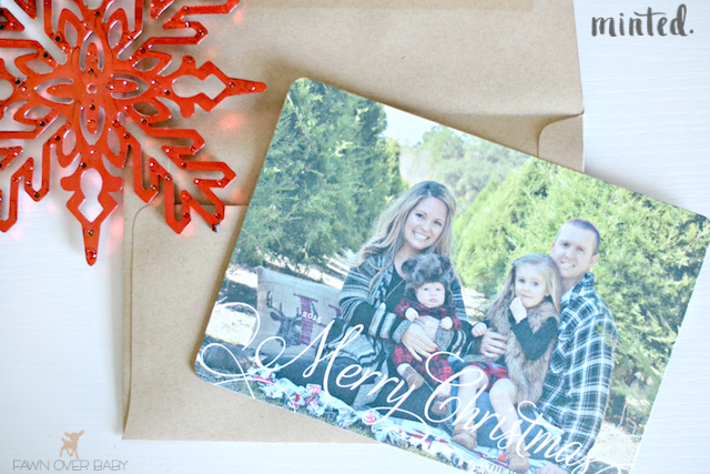 Minted Christmas Cards.Fawn Over Baby Minted Christmas Card Review