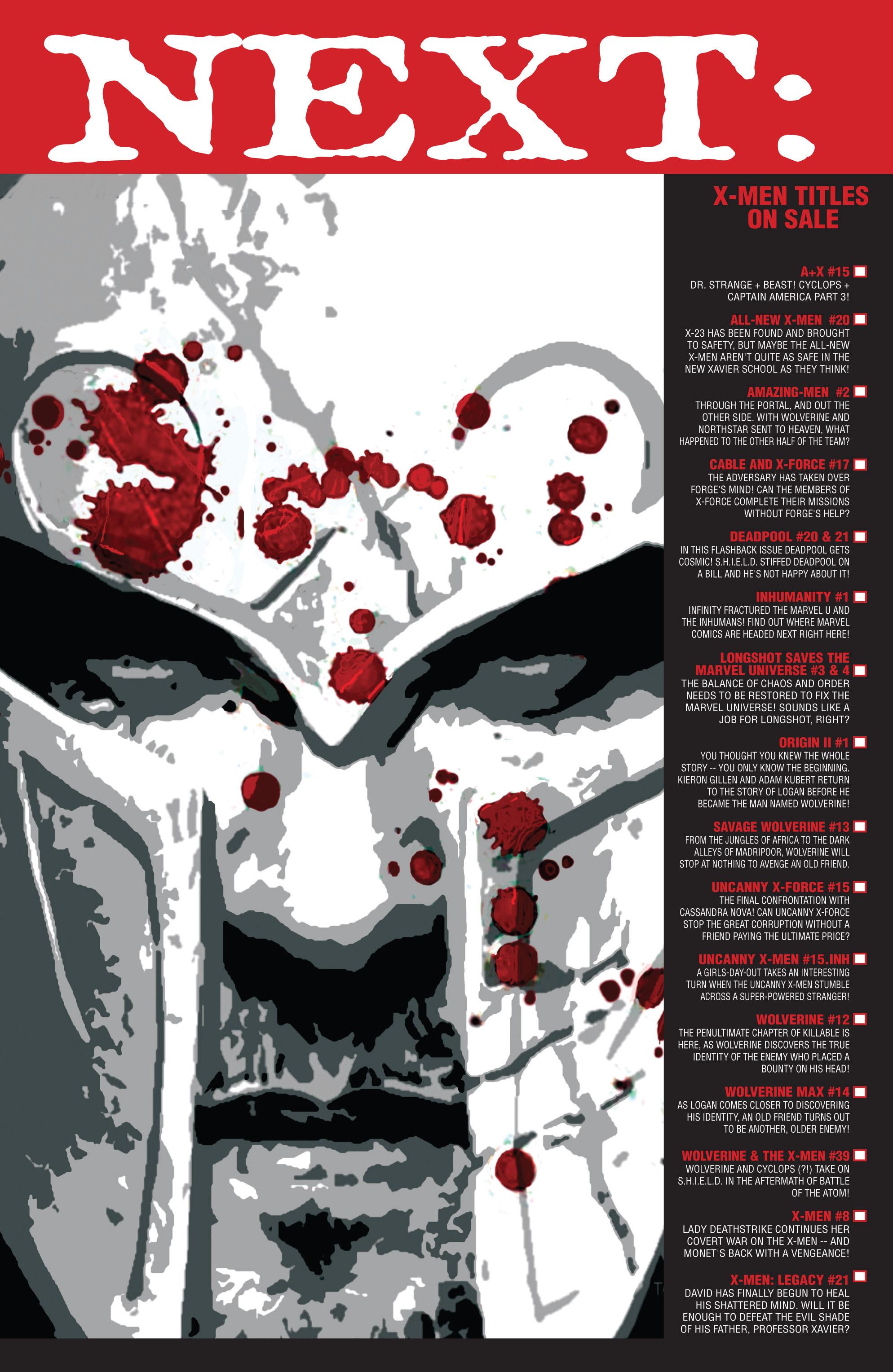 Read online Uncanny X-Men (2013) comic -  Issue #15 - 18