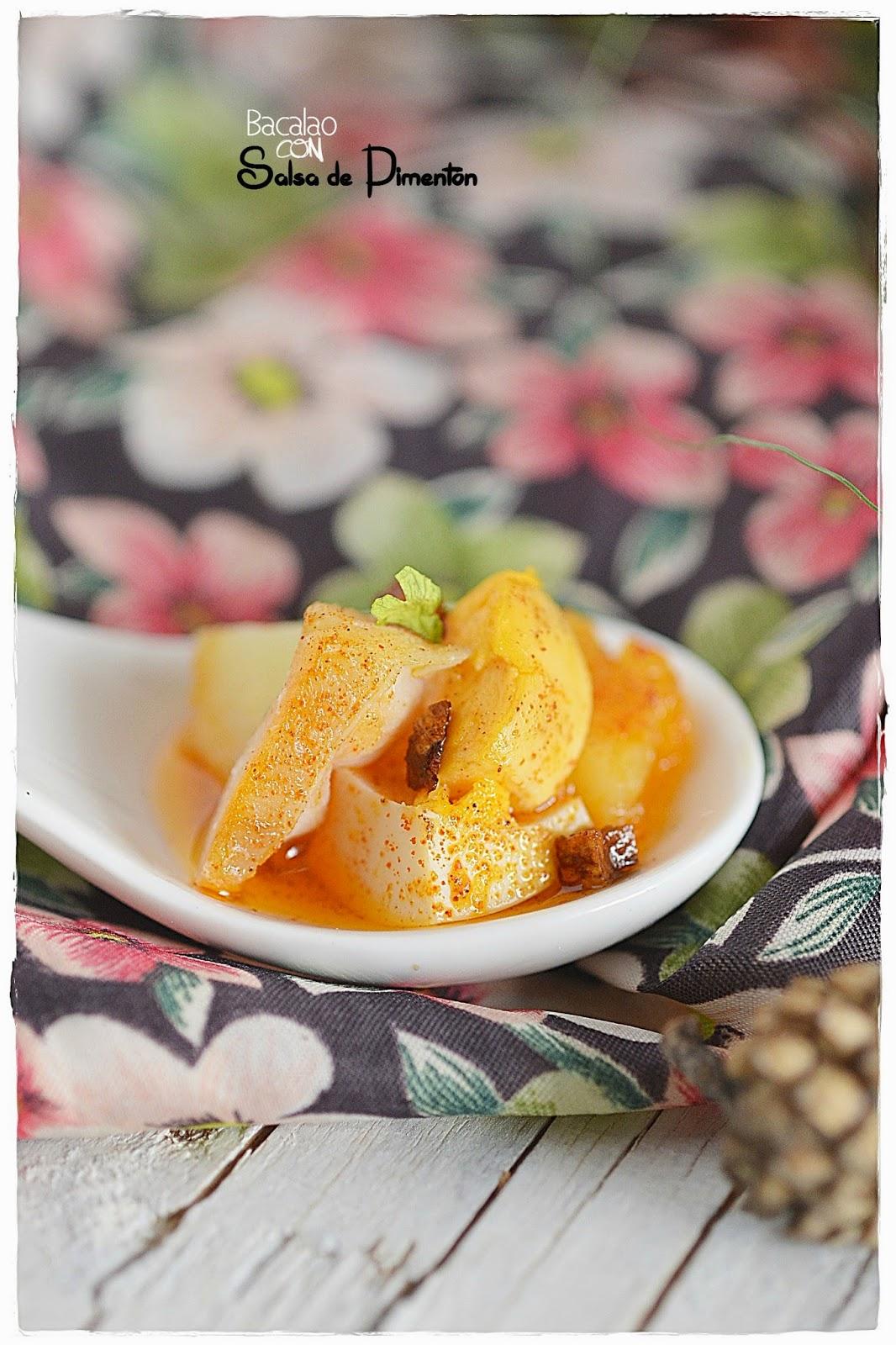 Bacalao con salsa de pimentón