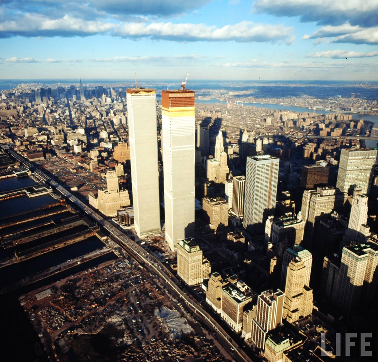stunning photographs captured the world trade center under