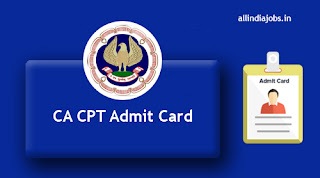 CA CPT Admit Card