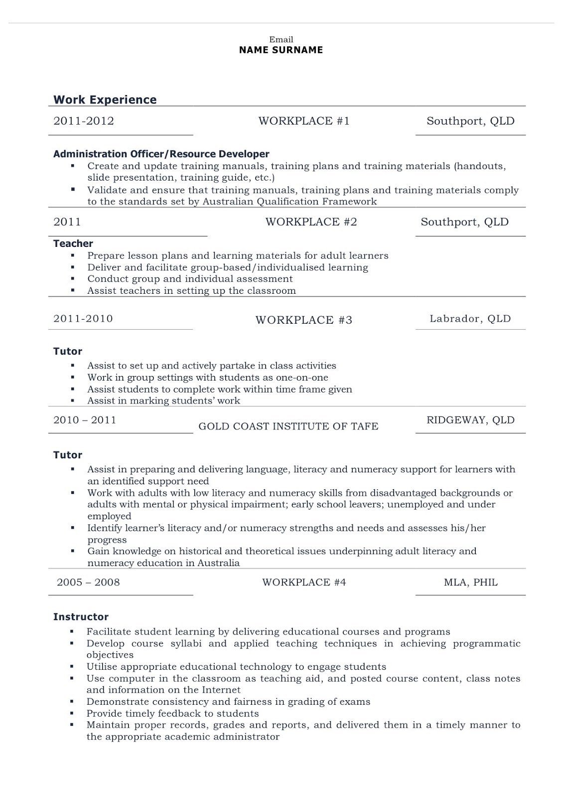 Combination Resumes Job Seek 101 How To Write A Resume Combination Resume