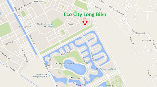 Vị trí dự án Eco City Long Biên