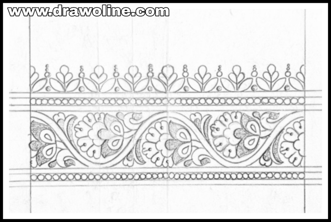 Saree Border Designs Drawing And Sketch On Paper Saree Border
