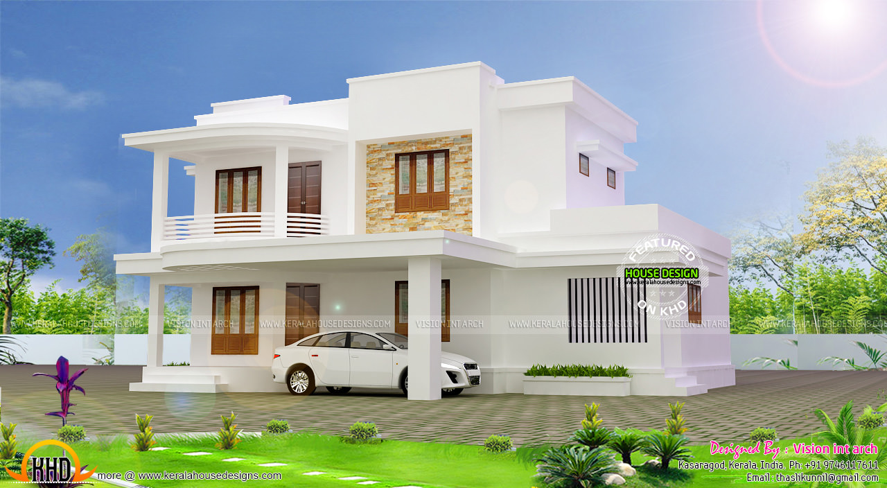 April 2016 kerala home design and floor plans for Minimalist house kerala