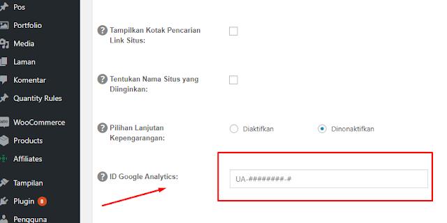 Cara Memasang Kode Google Analytics di Web