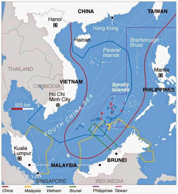 Resultado de imagen de China nunca permitirá que EEUU campe sin control por mar Meridional de China, d