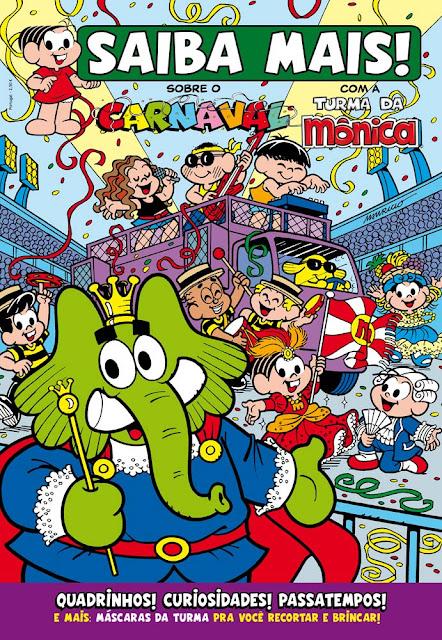 Revista em quadrinhos Projeto Carnaval Turma da Mônica