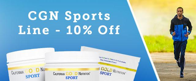 California Gold Nutrition กลุ่มสำหรับผู้เล่นกีฬา ลด 10%