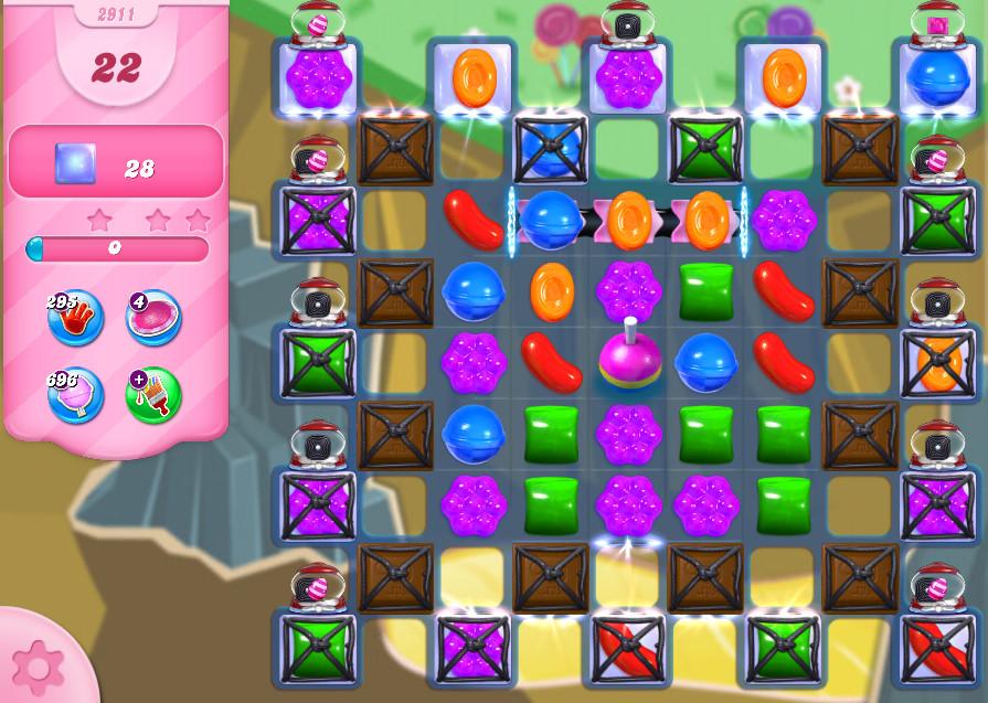 Candy Crush Saga level 2911