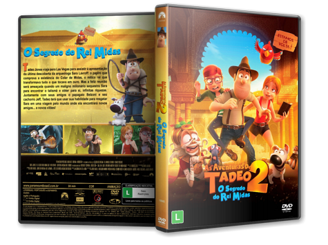 Capa DVD As Aventuras de Tadeu 2 - O Segredo do Rei Midas [Custom]