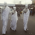 Photos: The famous Three Wise Men walk the streets of Lagos this morning