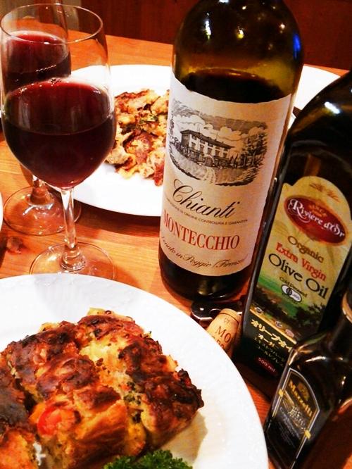 ケークサレとピッカータとワイン