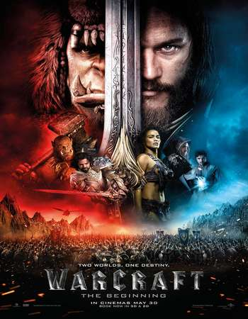 Poster Of Warcraft 2016 Dual Audio 720p HC HDRip [Hindi - English] ESubs Free Download Watch Online Worldfree4u