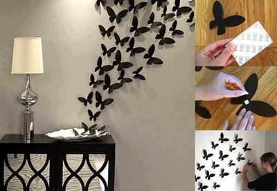 contoh hiasan dinding ruang tamu dengan menggunakan kertas