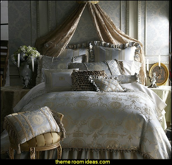 Isabella Collection by Kathy Fielder Camelia Bedding  Luxury bedroom designs - Marie Antoinette Style theme decorating ideas - French provincial furniture baroque style - Louis XVI furniture - Rococo furniture - baroque furniture - marie antoinette bedroom ideas - marie antoinette bedroom furniture