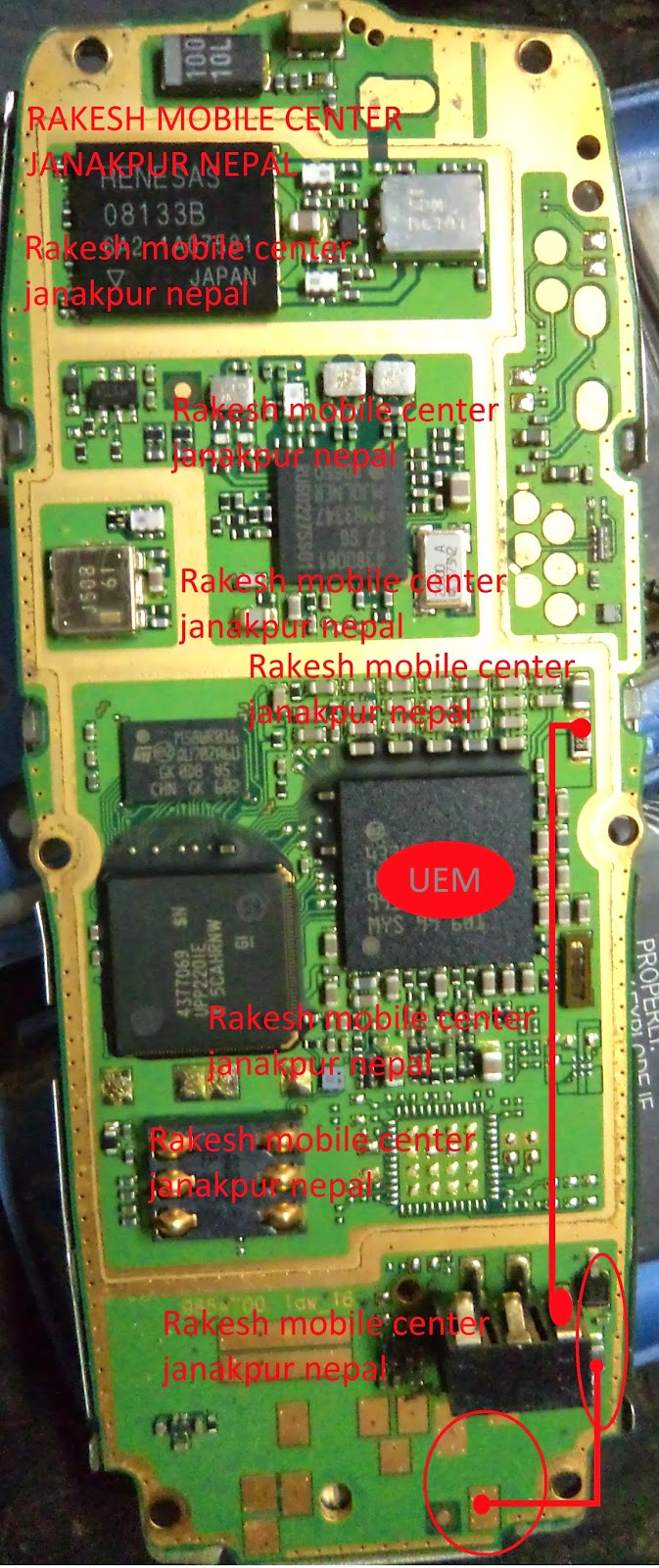 Nokia 1650 not charging solution pic