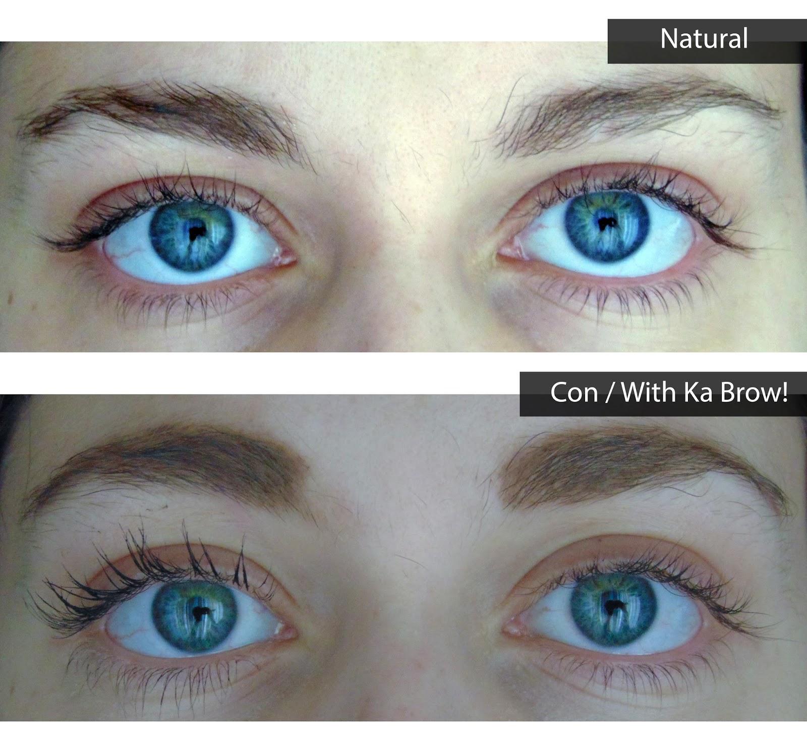 Review ka brow! brow gel before and after reseña gel cejas antes y después