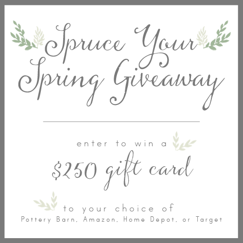 Spruce You Spring Giveaway! - LITTLE HOUSE OF FOUR