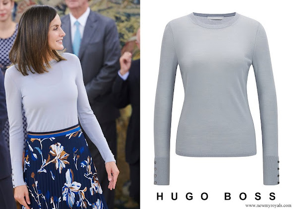 Queen Letizia wore Hugo Boss Crew-neck sweater