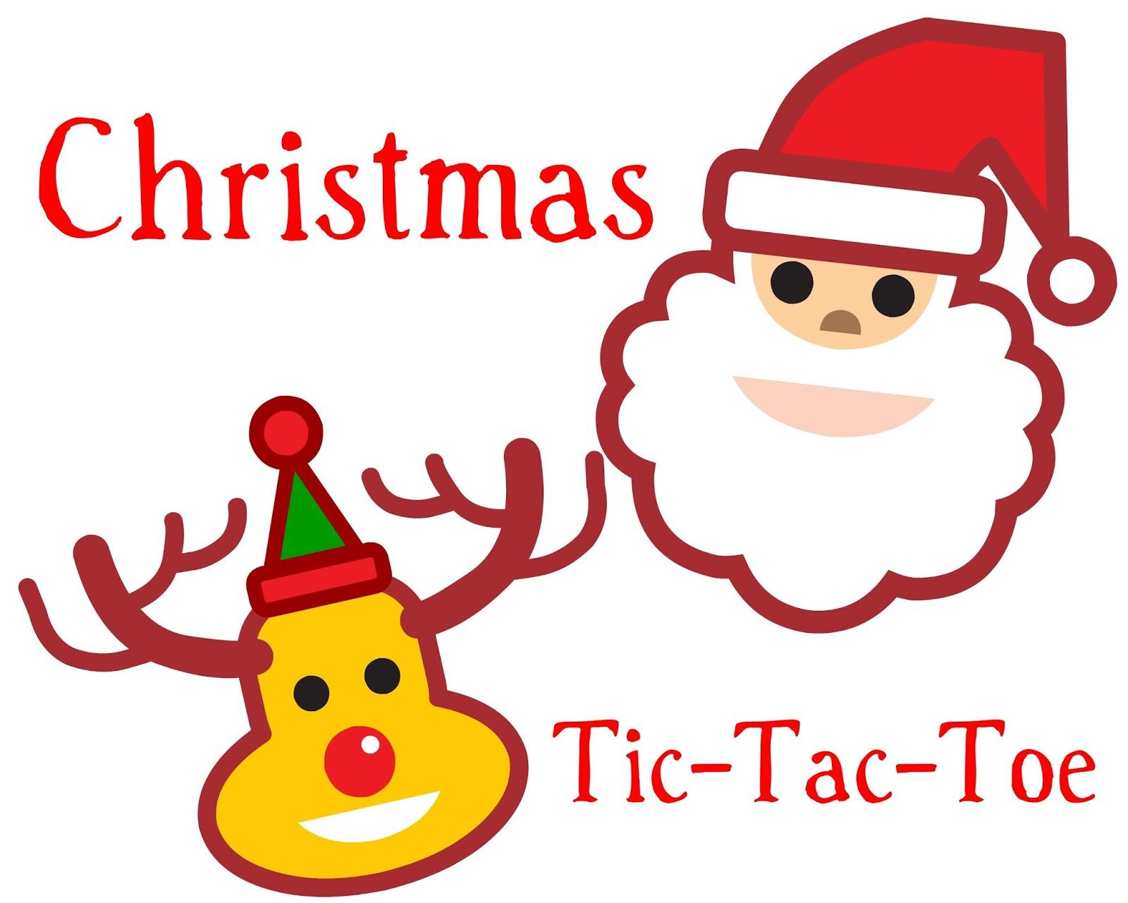Cjo Photo Printable Christmas Tic Tac Toe Game