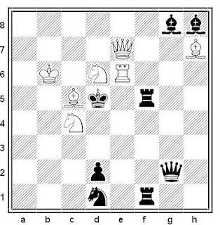 Problema de mate en 2 compuesto por Luis Gómez Palazón (3º Recomendado, Memorial Bonivento 2013-14)