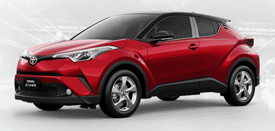 Toyota CHR Red Mica With Sporty Black Roof