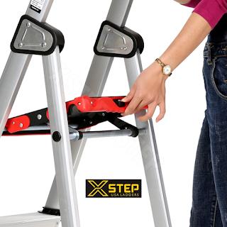 Thang nhôm ghế XSTEP XL 03 bậc rút chính hãng giá rẻ