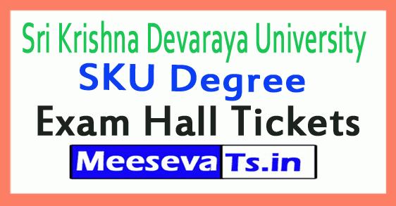 Sri Krishna Devaraya University SKU Degree Exam Hall Tickets