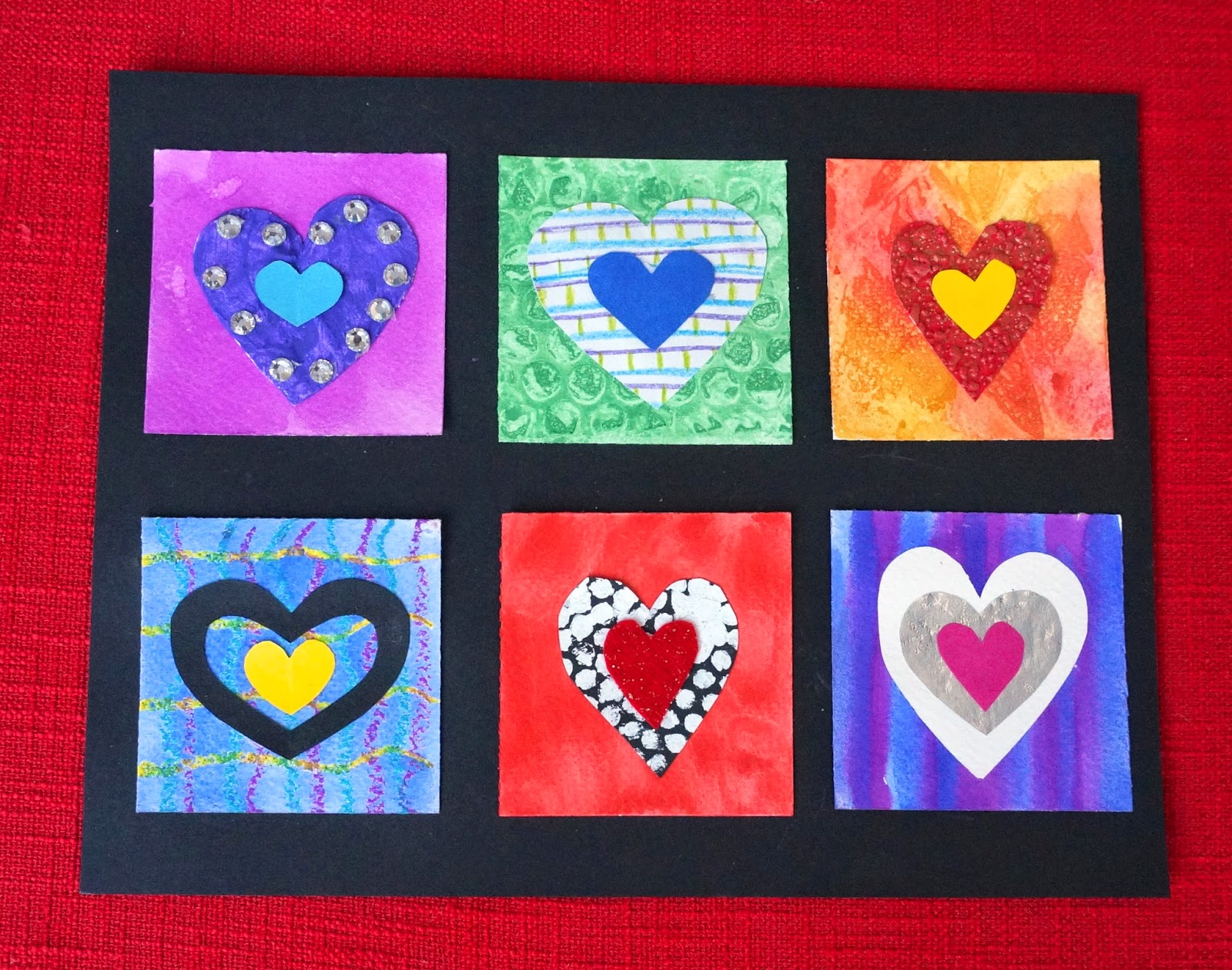 That artist woman warm and cool hearts for Valentine day arts and crafts