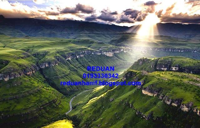 Pemandangan Indah alam semulajadi Afrika Selatan