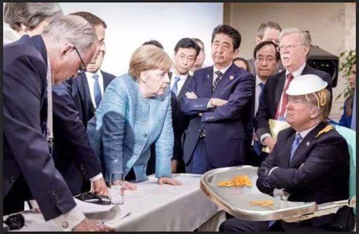 Image result for trump g7 high chair