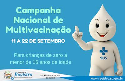 Secretaria de Saúde realiza Campanha Nacional de Multivacinação de 11 a 22 de setembro