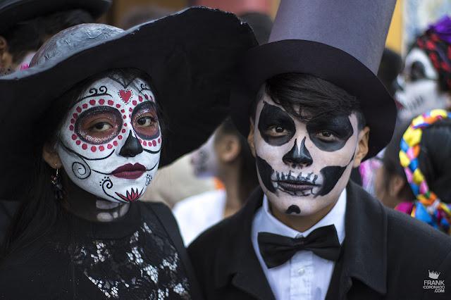 Catrines en en el día de muertos en Oaxaca