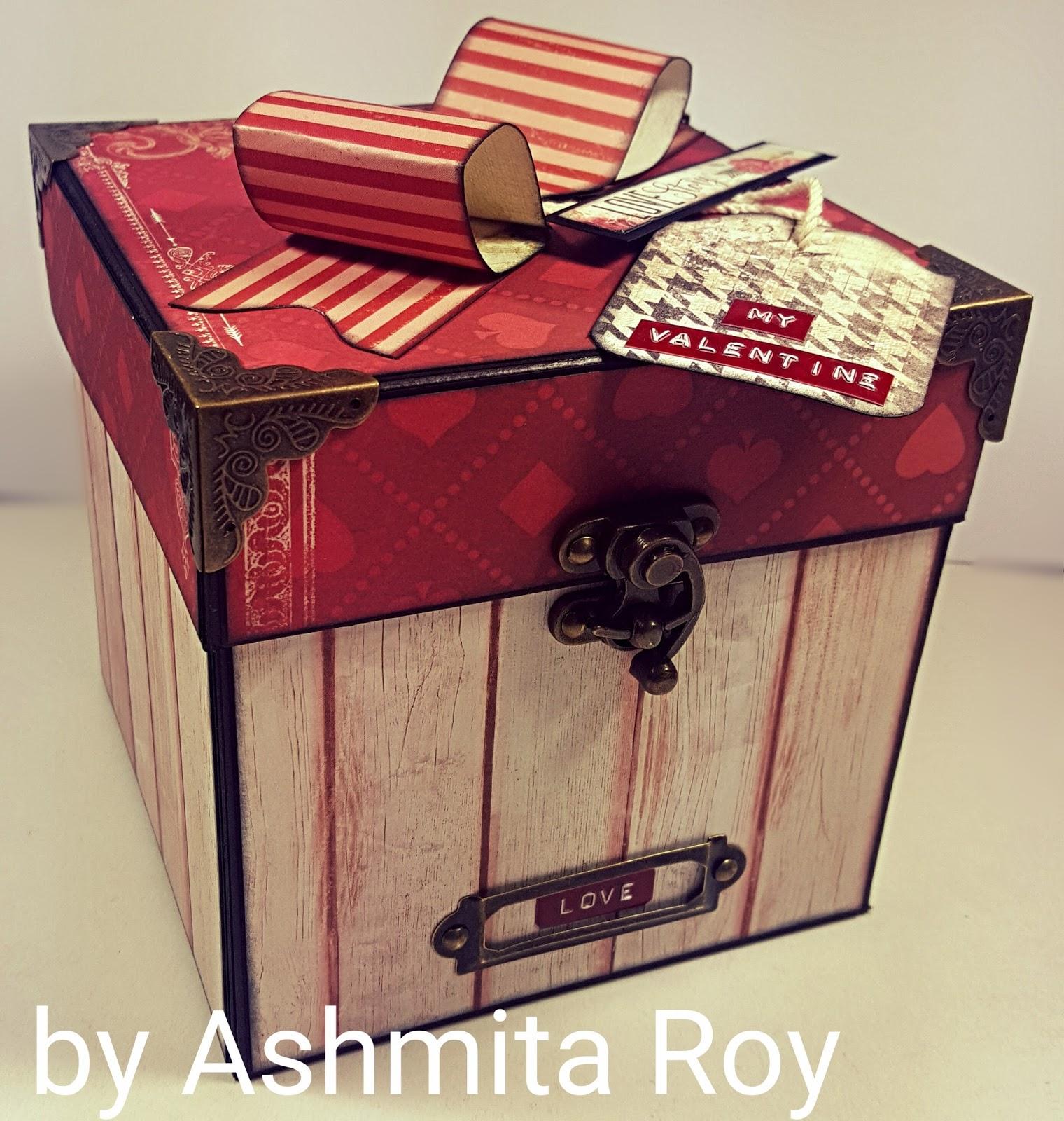 Art Some Craft Valentine Envelope Explosion Box Start To Finish