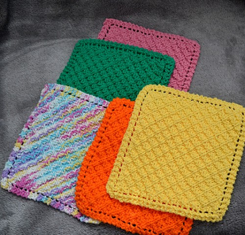 Grandmother's Waffle Washcloth - Free Pattern