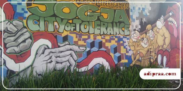Mural Semar di wilayah Ledok, Tukangan, Yogyakarta