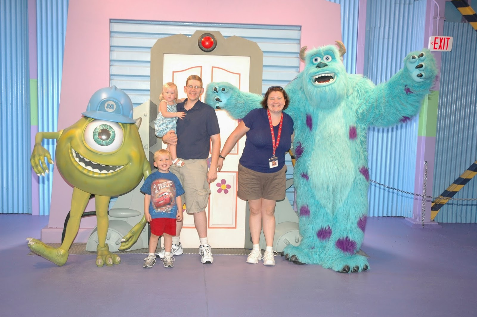 Meet Monsters Inc characters Sully and Mike at Hollywood Studios