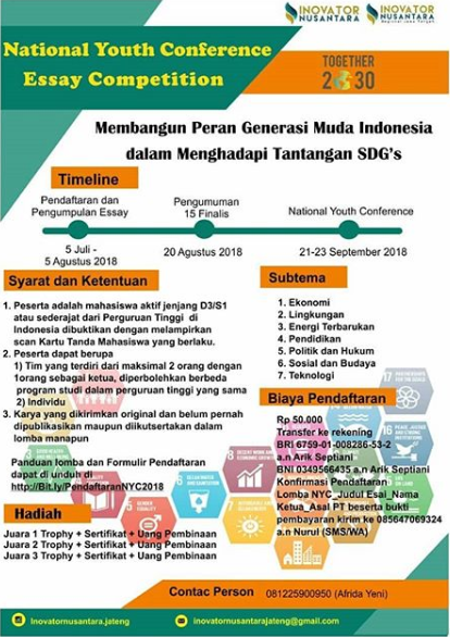 Lomba Essay National Youth Conference 2018