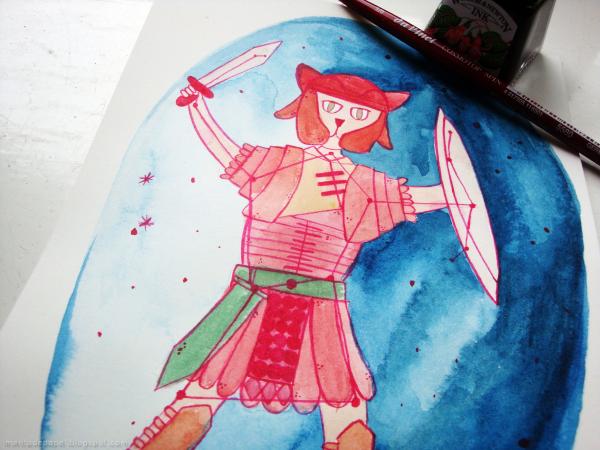 Ilustración de Orión-gato