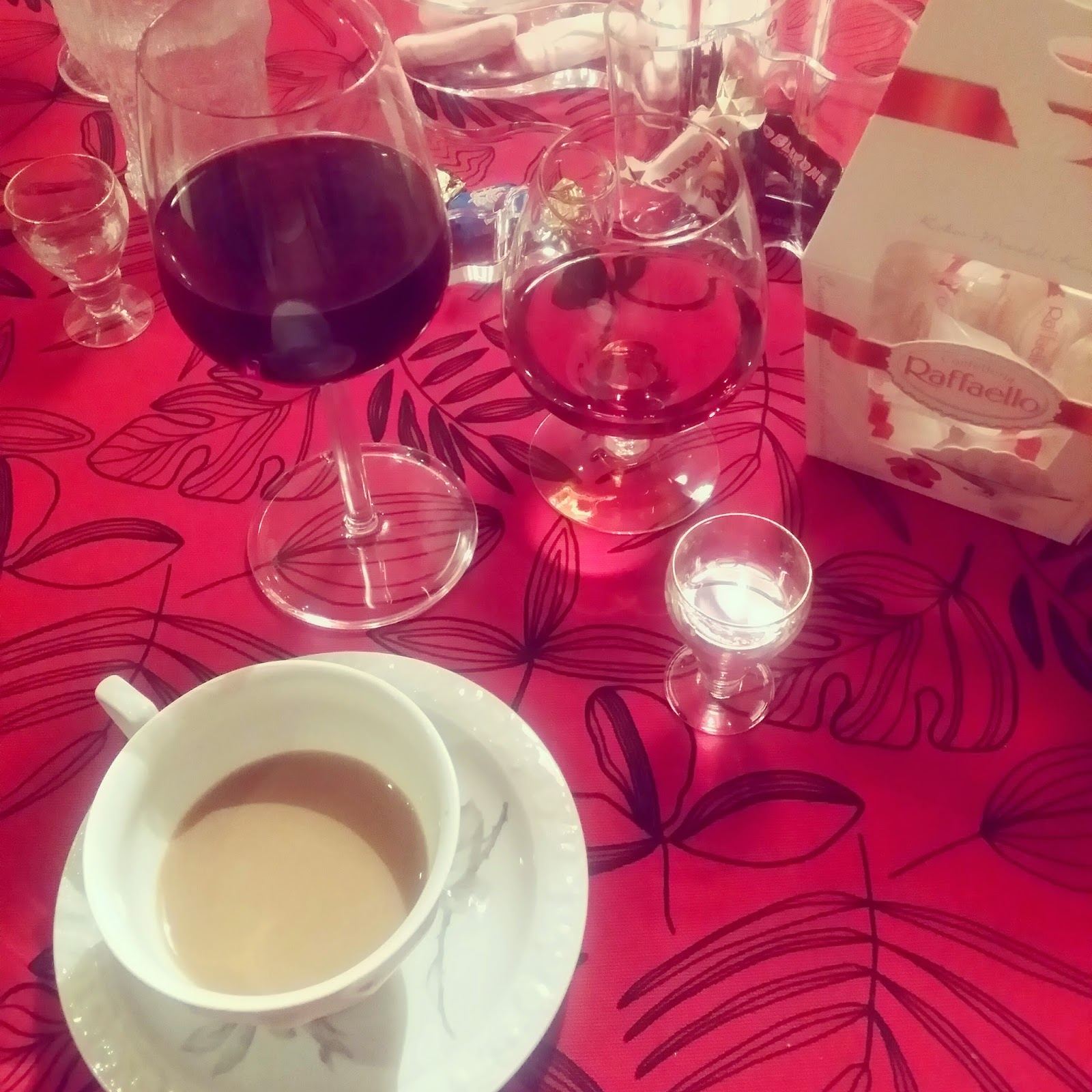 coffee,brandy and wine