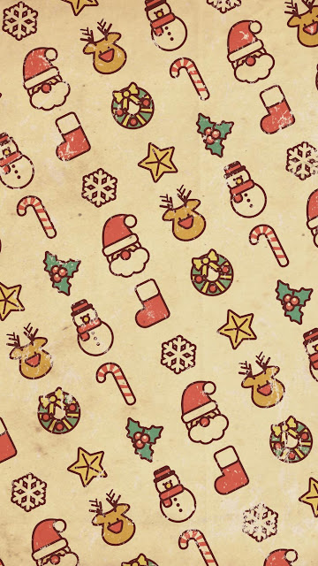 Vintage Christmas iPhone 7 Wallpaper
