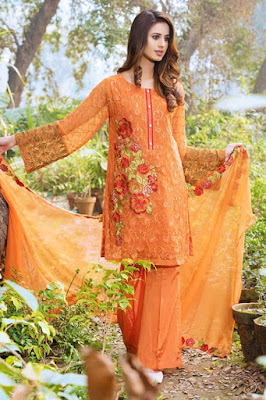 Motifz embroidery dresses collection 2017