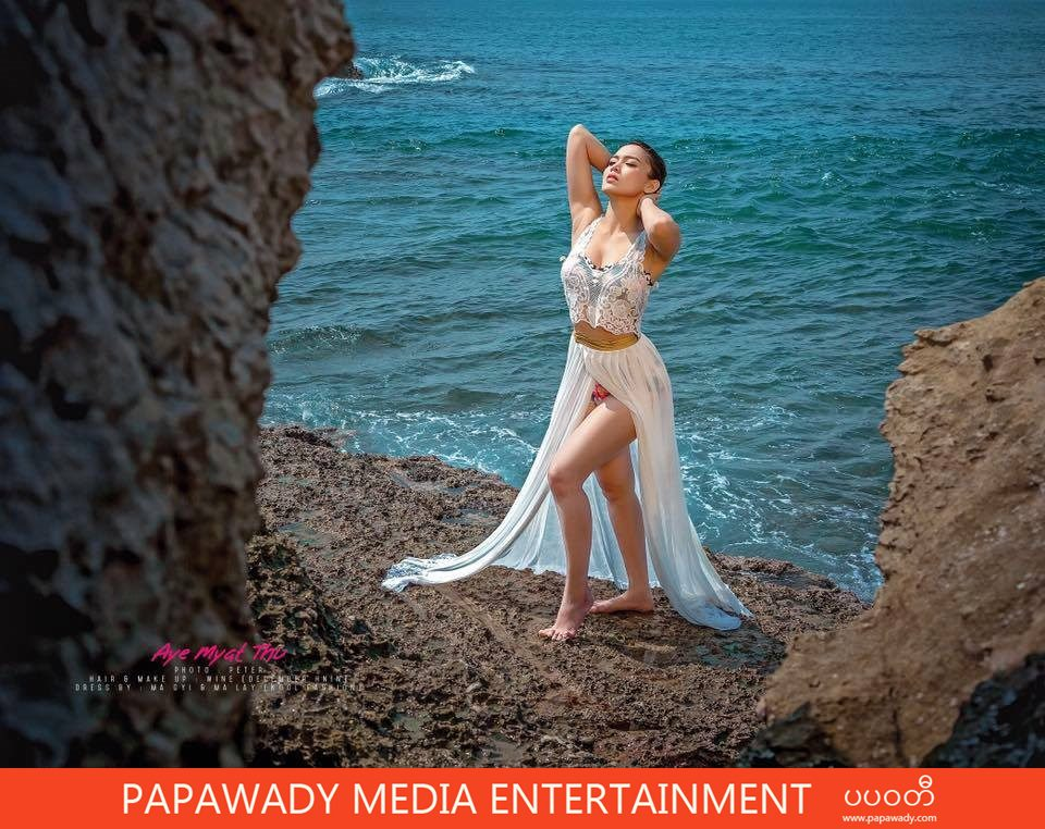 Aye Myat Thu IMAGE Fashon Magazine Cover Phootshoot At The Beach