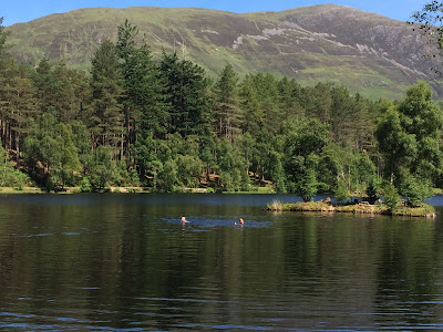 Swimming at Glencoe Lochan
