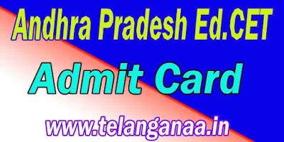 Andhra Pradesh  Ed.Cet AdmitCard