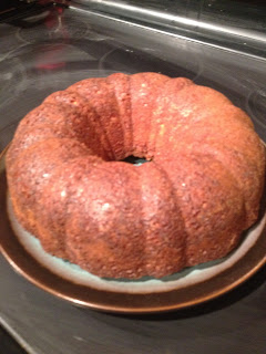 The Cake Will Still Be Warm Then You Can Pour On The Glaze