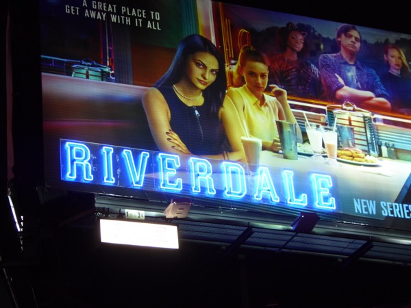 Riverdale special Neon sign billboard installation